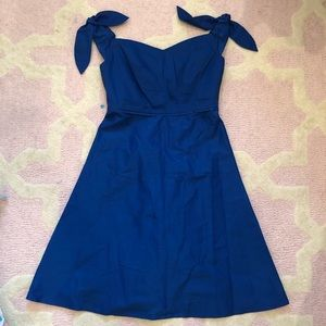 J Crew Off the Shoulder Strapless Dress with Ties